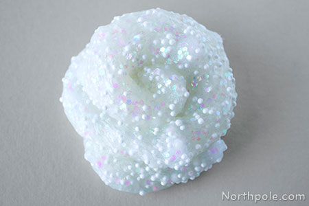 Craft for Kids: Sparkly Snowball Slime